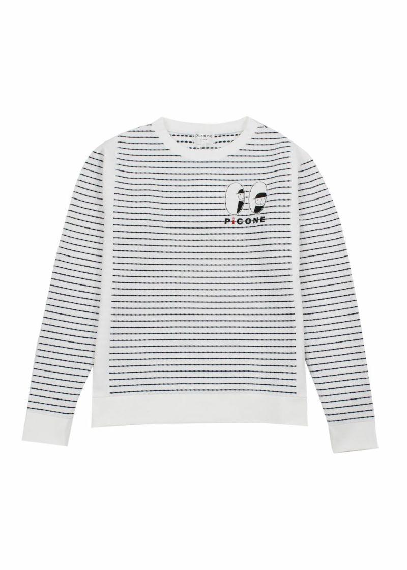 piconeclub-ピッコーネクラブ- C059309 ボーダー長袖シャツ